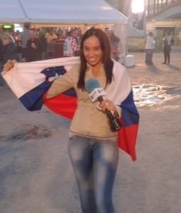 Voditeljica športa in novinarka oddaje Danes na PLANET TV - 2013